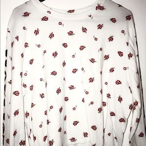 Hollister long sleeve with roses